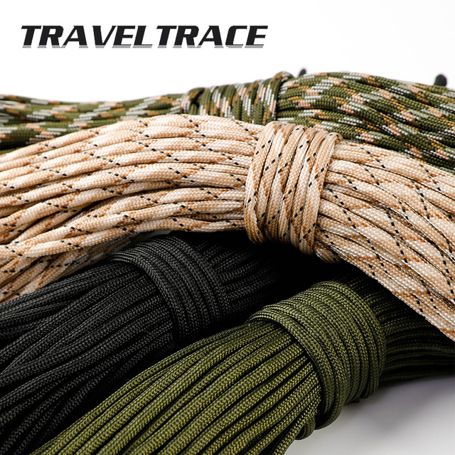 Paracord 550 Military Spec Type 9 Stand 2mm Lanyard Cores Rope Hiking Survival 4mm Parachute Cord Outdoor Clothesline Rescue 4