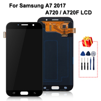 Original For Samsung Galaxy A7 2017 A720 LCD A720F A720M Display LCD Touch Screen Digitizer Replacement Parts