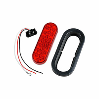 6 Pack LED Running/Brake/Reverse Light For Trailer Towing Hitch Cover Red White