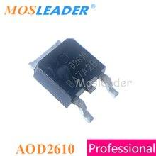 Moswader – lot de 100 pièces de canal N 60V 46a, AOD2610 TO252, DPAK, 15mR, fabriqué en chine, haute qualité