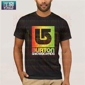Футболка с логотипом Burton Arrow, футболка с рисунком из мультфильма, мужские футболки, крутая футболка с радужным юмором, 100% хлопковые топы с гр...