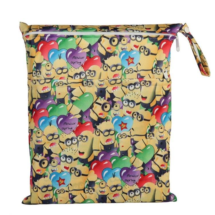 [Sigzagor] 1 Влажная сухая сумка с двумя молниями для детских подгузников, водонепроницаемая сумка для подгузников, розничная и, 36 см x 29 см, на выбор 1000 - Цвет: Little