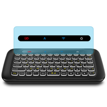 лучшая цена Original 2.4Ghz Wireless Air Mouse H20 Keyboard With Backlight Touchpad Learning Function For Android Tv Box
