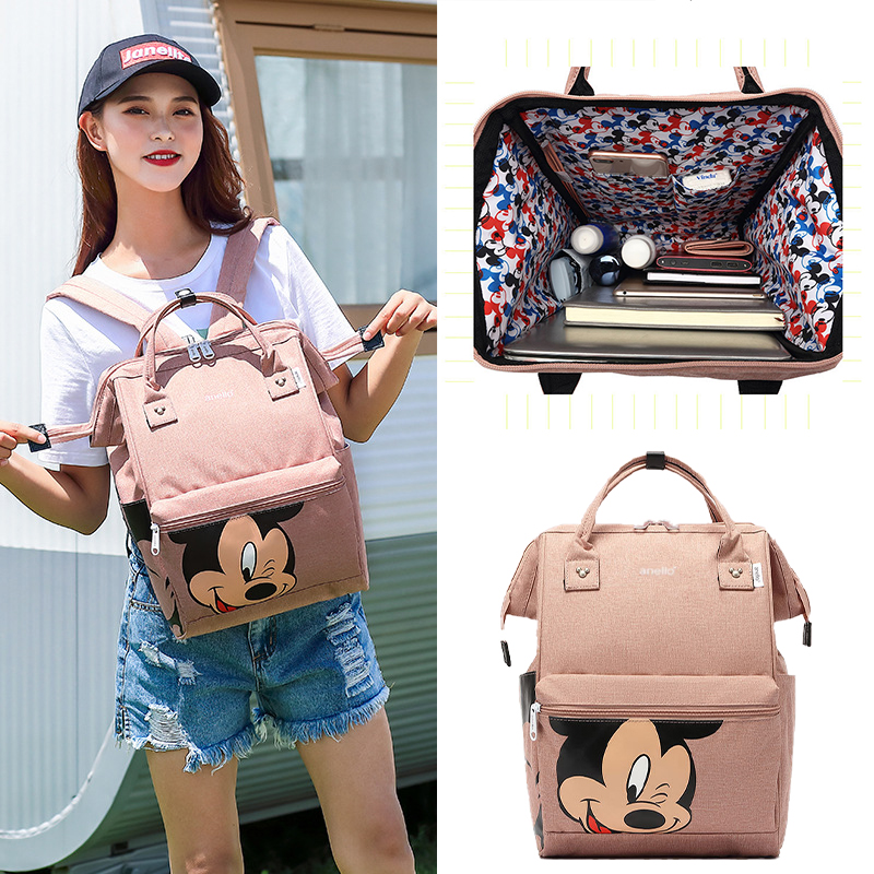 Disney Diaper Backpack Baby Bag For Mom Wet Bag Fashion Mummy Maternity Diaper Organizer Mickey Carriage Travel Pram Cart Travel