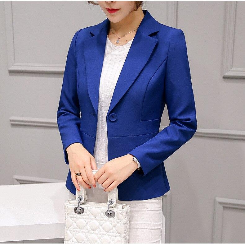 Black Women Blazer Formal Blazers Lady Office Work Suit Pockets Jackets Coat Slim Black Women Blazer Femme Jackets 29