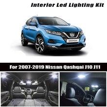 8pc x Error Free LED lamp For 2007 2018 2019Nissan Qashqai J10 J11 Accessories Interior Reading Map Trunk light bulb kit