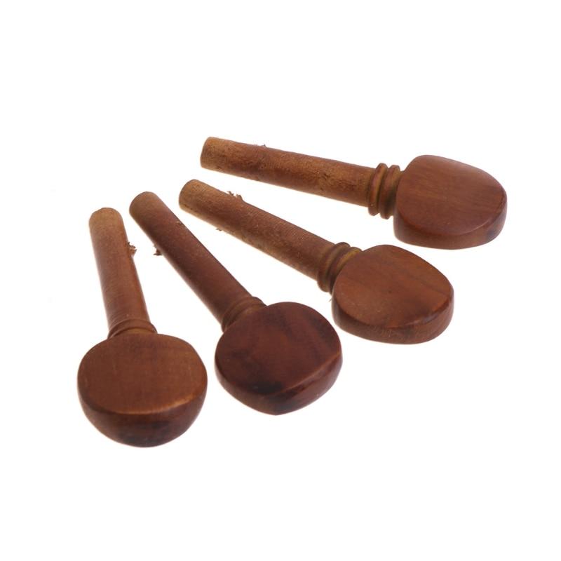 4pcs 1/8 1/4 1/2 3/4 4/4 Jujube Wood Violin Tuning Pegs Endpin Set Replacement Q6PB