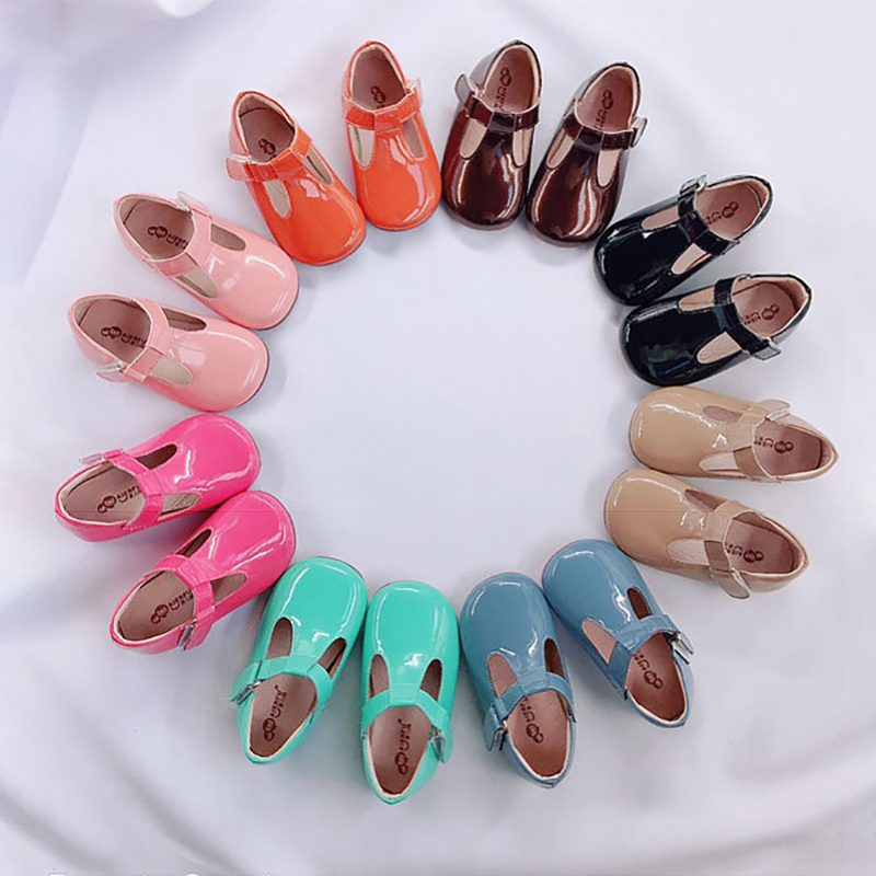 Fashion Girls Leather Shoes Baby Girls Princess Shoes For Wedding Birthday Party Soft Girls Patent Leather Shoes For Children