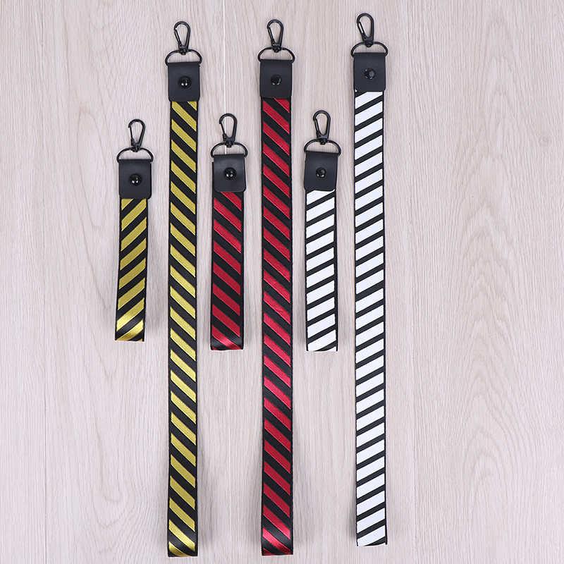 ストライプパターンファッション米国日本ストリートブランドストライプストラップ手首用キー ID カード電話のストラップ iPhone ハングロープ