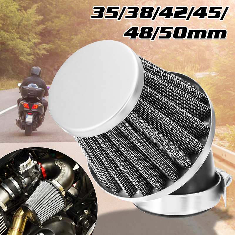 New Motorcycle <font><b>Air</b></font> <font><b>Filter</b></font> 35mm 38mm 42mm <font><b>48mm</b></font> 50mm Universal Fit For 50cc 110cc 125cc 140cc Motorcycle ATV Scooter Pit Dirt Bike image