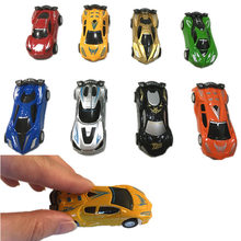 6Pcs/set Mini Toy Car Model Diecast Pull Back Racing Cars Simulation Bus Truck Vehicle Cute Plastic Toys For Boys Children Gifts(China)