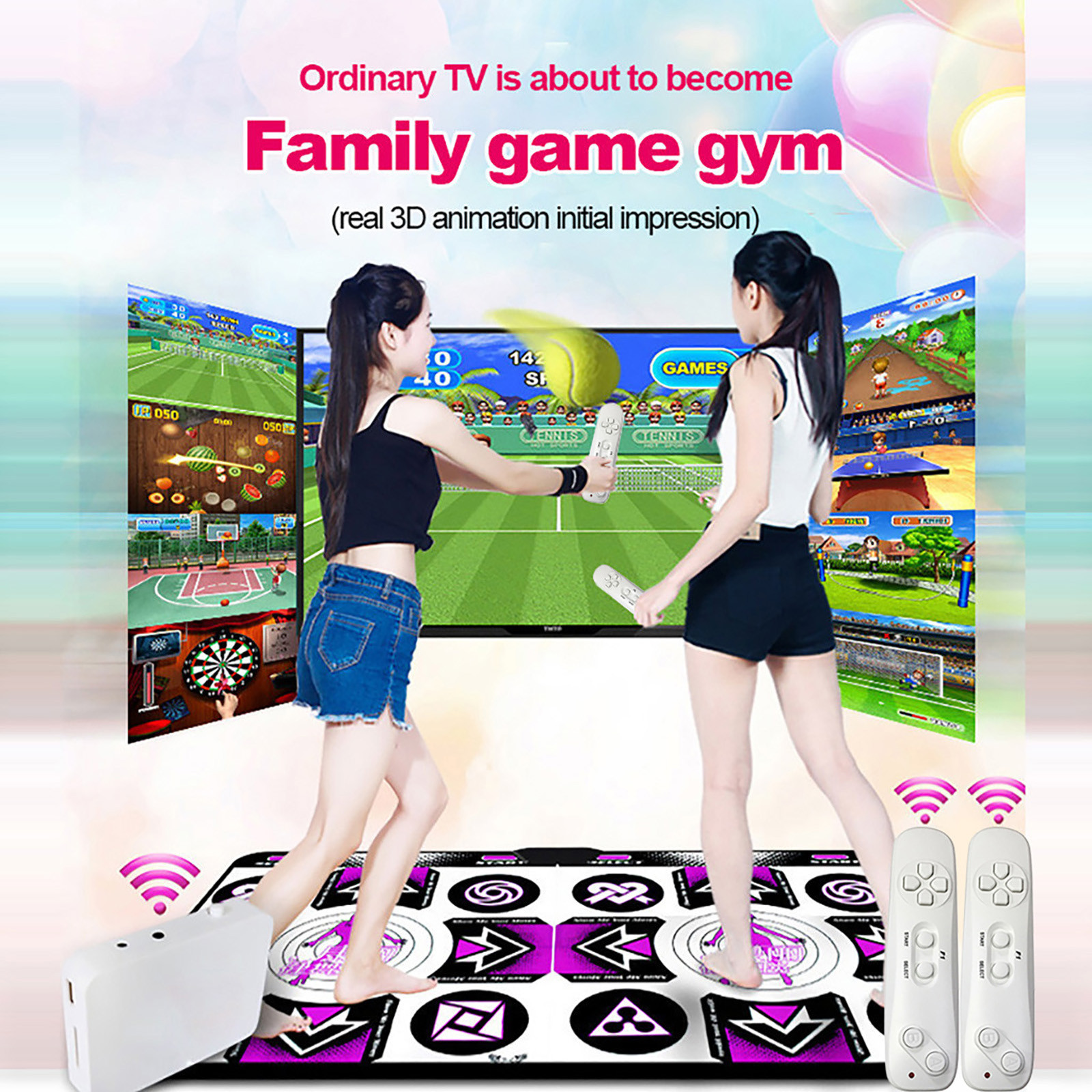 Dance-Mats Game Living-Room Home No for TV Holiday Party Family FN60 HDMI Non-Slip English