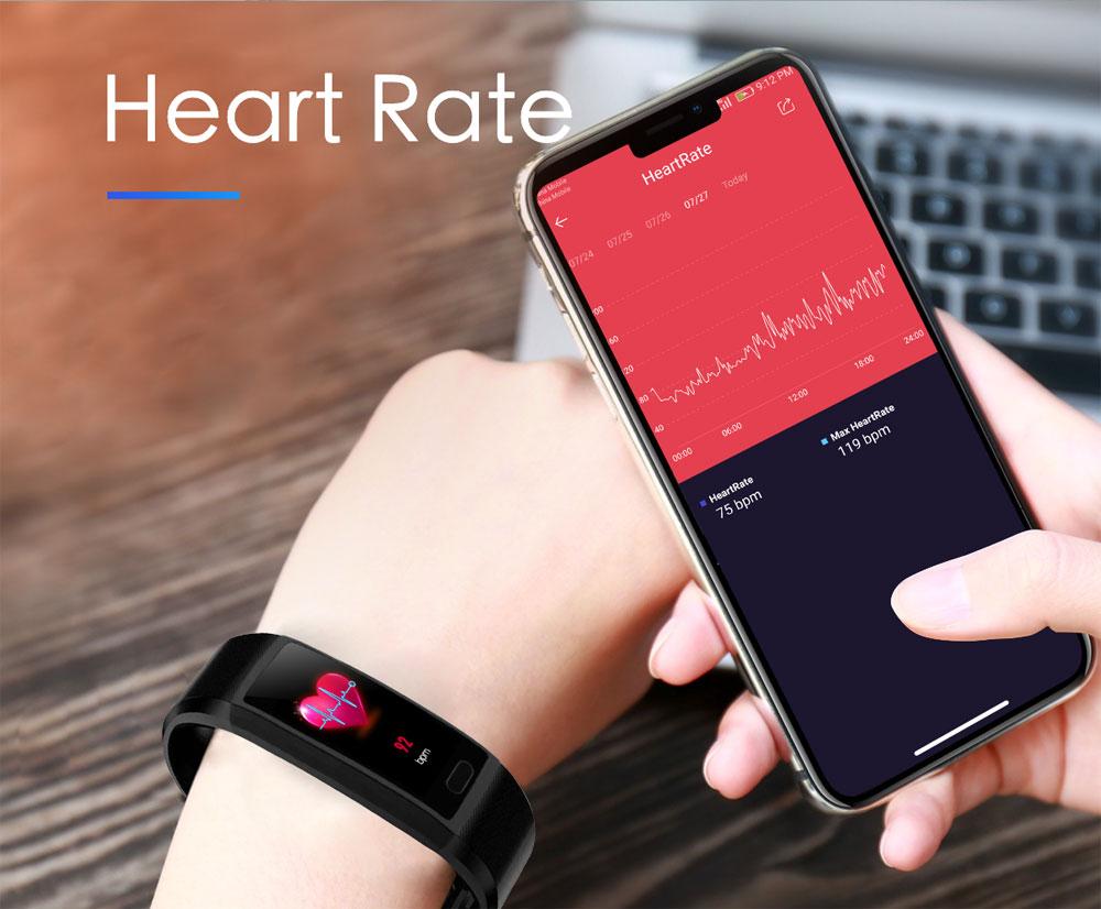 H8e78977cfe404e5db28d069a4268e87cP Fitness Bracelet Blood Pressure Measurement Waterproof Smart Band Bracelet Watch Fitness Tracker Heart Rate Activity Tracker