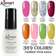 New Kismart Nail Gel Gelpolish UV/LED Polish Soak Off Long Lasting UV Varnish Dry With LED Lamp