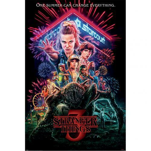 Art Print Poster Canvas Stranger Things New TV Series Silk