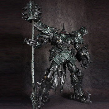 Big Grimlock Action Figure Collections Transformers LS05 Metal Part Alloy Enlarged Robot Dinosaur Model Toys 1