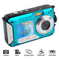 Wasserdichte Anti-schütteln Digital Kamera 1080P Full HD Unterwasser Kamera 24 MP Video Recorder Selfie Dual Bildschirm DV aufnahme Kamera
