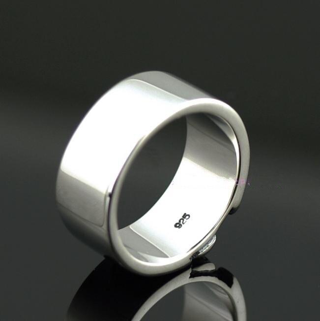 Breve placa esqueleto anillo calavera hombres thai anillo de plata - 2