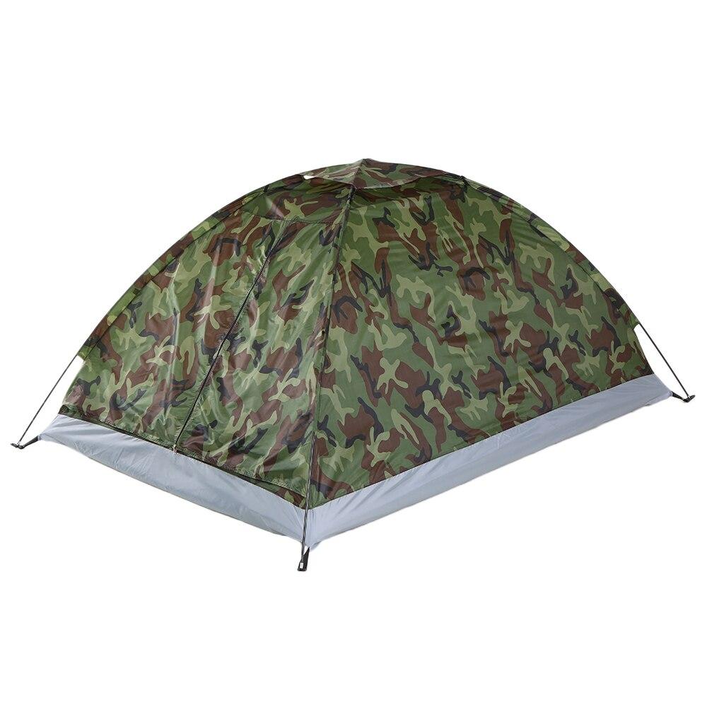 Tomshoo Camping Tent Voor 1 Persoon Enkele Laag Outdoor Draagbare Camouflage Reizen Strand Tent Arry Tas Voor Wandelen Reizen