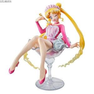 Image 3 - Cosplay sailor moon Pretty Guardian sakura Tsukino Usagi 20th Anniversary Limited Wine Glass Ver. Ice Cream action figure Doll