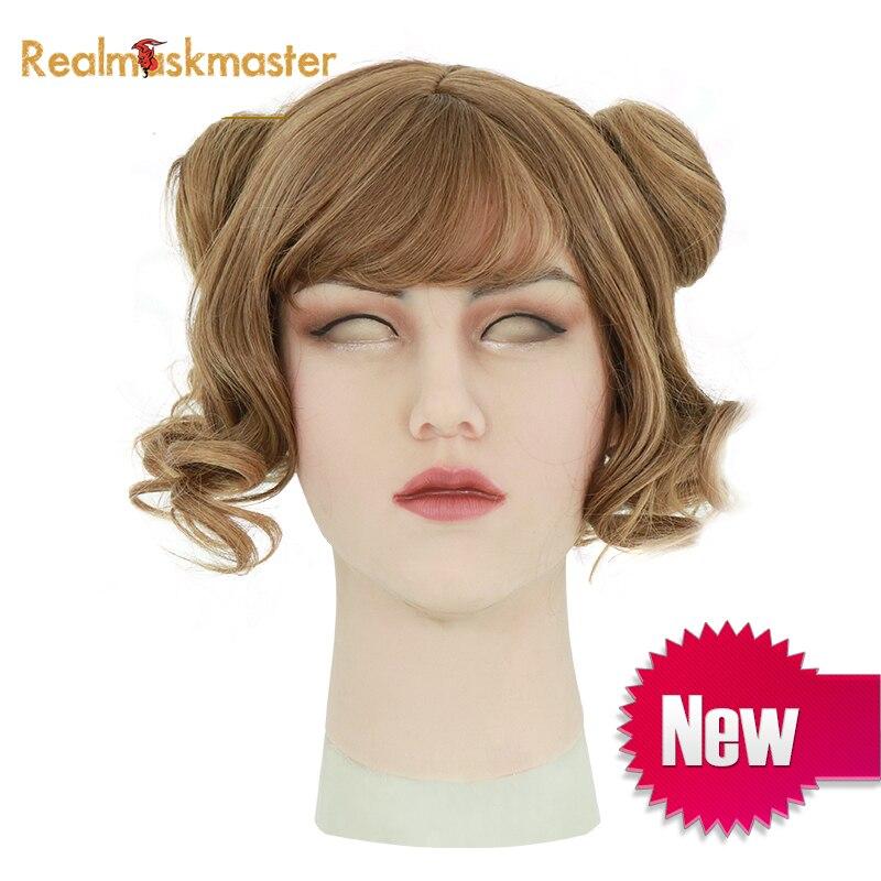 Roanyer silicone transsexual realista artificial pode máscaras máscara de látex sexy cosplay para o dia das bruxas crossdresser transgêneros