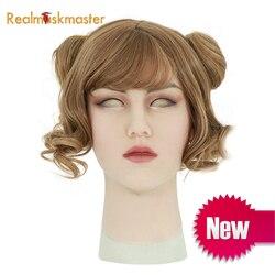 Roanyer silikon künstliche realistische shemale kann maske latex sexy cosplay für crossdresser halloween transgender masken