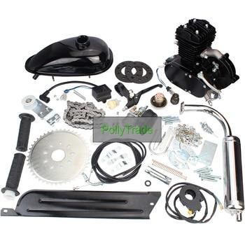 Bicycle Motor Kit 80cc 2-Stroke Bike Gasoline Motorized Gas Engine Bike Motor Kit (Black)