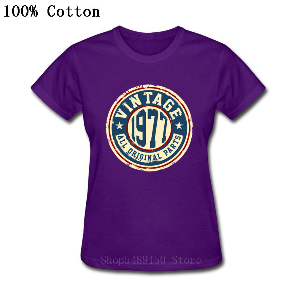 2019 New Classic Women T Shirt O-Neck Tops 1975 1976 1977 1978 <font><b>1979</b></font> T Shirt T-Shirt Clothing Birthday Age Year Party Gift <font><b>Tshirt</b></font> image
