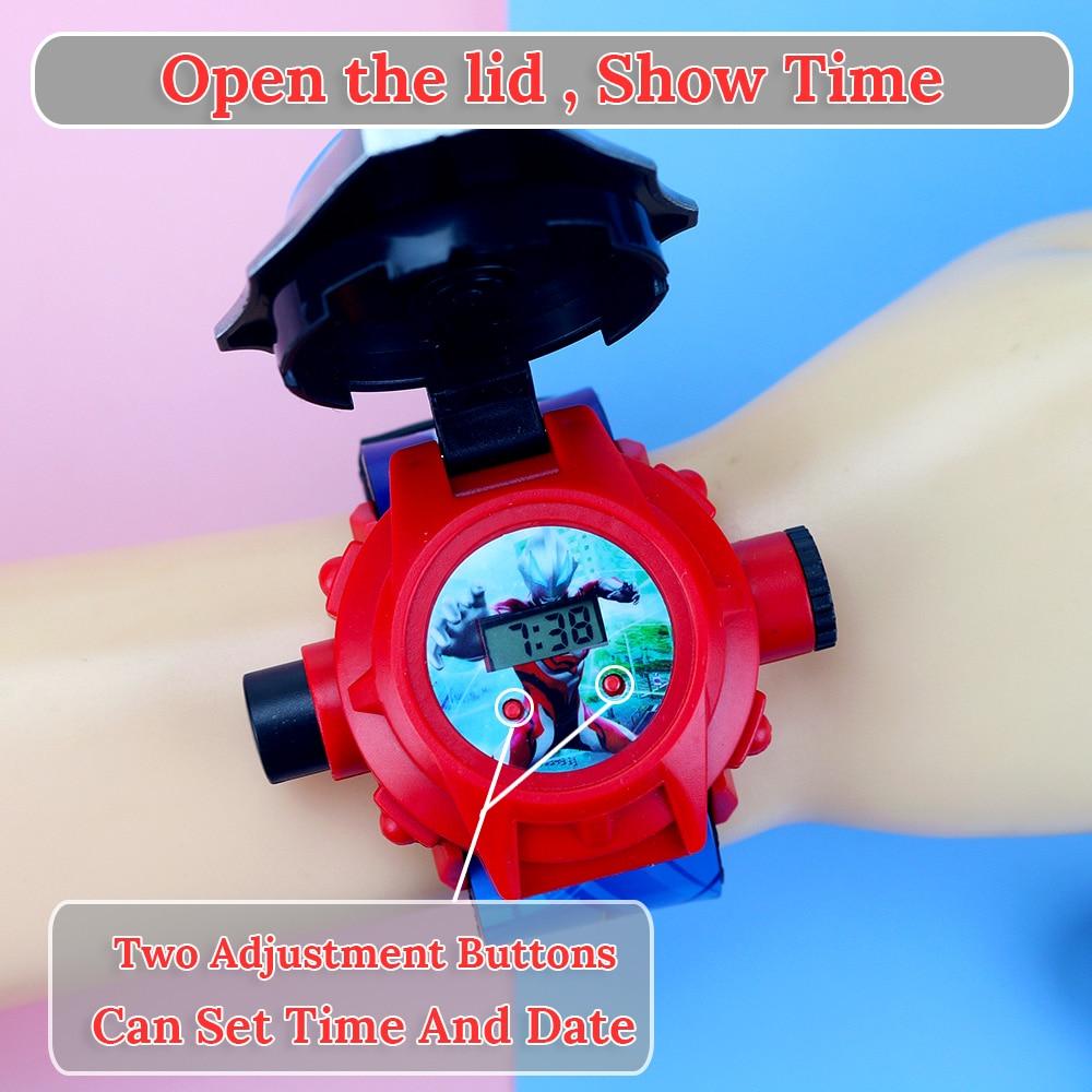 3D проекция принцесса дети часы дети мультфильм узор мальчики часы девочки ребенок цифровой наручные часы Relogio