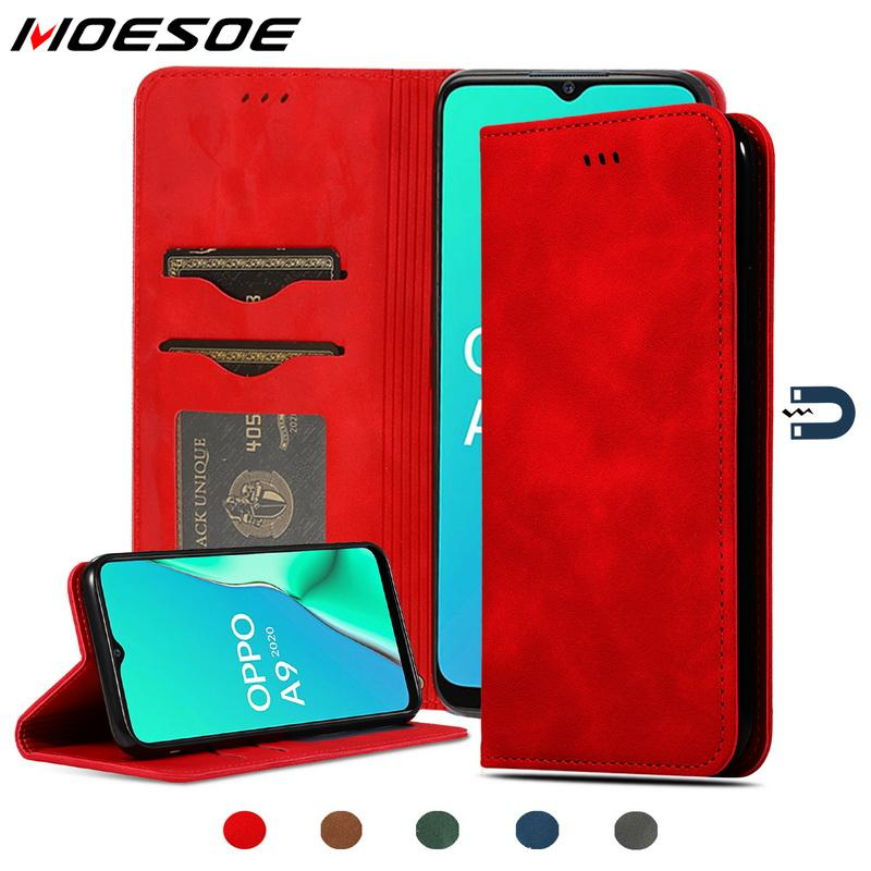 Real Genuine Leather Flip <font><b>Wallet</b></font> <font><b>Case</b></font> For <font><b>OPPO</b></font> A9 <font><b>A5</b></font> 2020 A11X A11 X Magnet Card Slots Phone Holder Cover Book <font><b>case</b></font> image