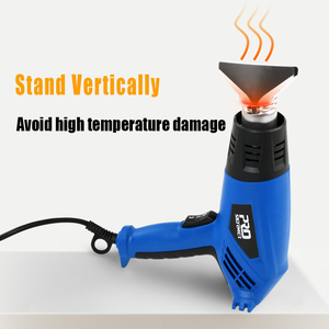 Image 3 - 220V Heteluchtpistool 2000W Elektrische Heteluchtpistool Variabele 2 Temperaturen Industriële Power Tool Met Vier Nozzle Attachment door Prostormer