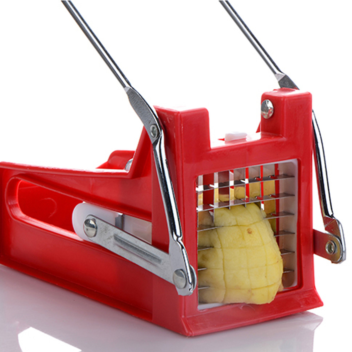 French Fries Cutters Stainless Steel Potato Chips Strip Cutting Machine Maker Slicer Chopper 2 Blades Kitchen Gadgets