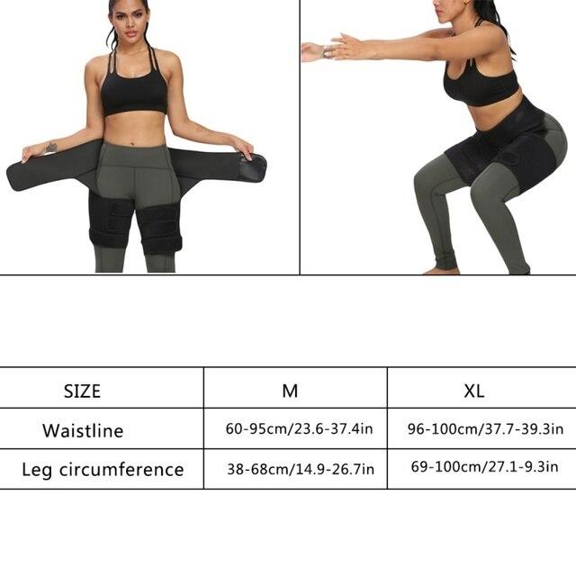 Protection belt WAIST SECRET Slim Thigh Trimmer Leg Shapers Slender Slimming Belt  Sweat Shapewear Toned Muscles Band Thigh Slim 5