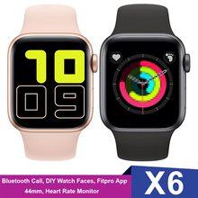2021 IWO 12 X6 Smart Uhr Serie 5 44MM Bluetooth Anruf Herz Rate Sport Fitness Smartwatch DIY Zifferblatt PK IWO MAX 2,0 W26 X7 X8
