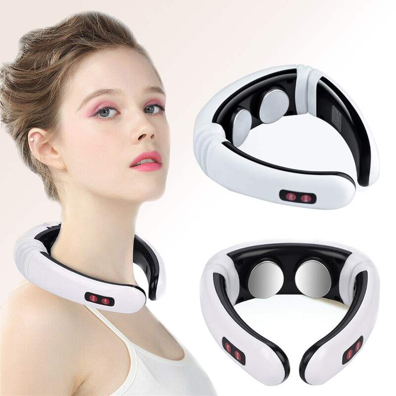 Electric Pulse Back and Neck Massager Acupuncture Therapy Far Infrared Heating Pain Relief Health Care Relax Cervical Instrument