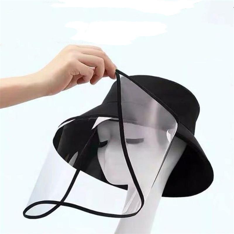 Removable Transparent Face Shield Hat Saliva-proof Dust-proof Sun Visor Hat Anti-virus Hat Isolates Saliva-carrying Viruses Caps