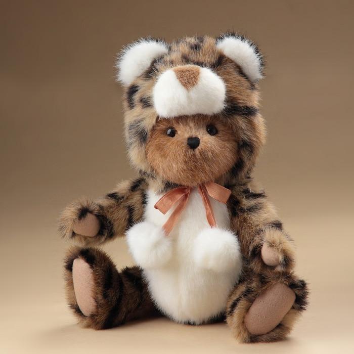 cute teddy bear plush stuffed toys plush joint Leopard becomes teddy bear doll kids toys birthday gift for friend Shop Decor