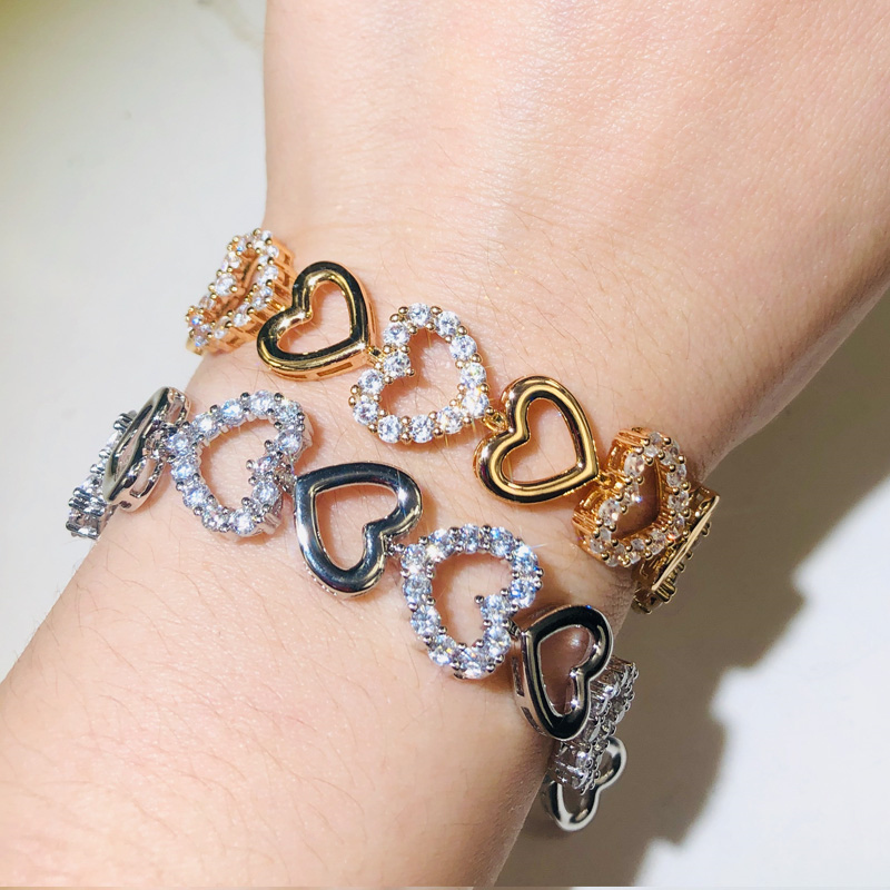 Love Heart Shape Bracelet for Women H8e7a89aeedc443f2985841c19d5167dfq bracelet