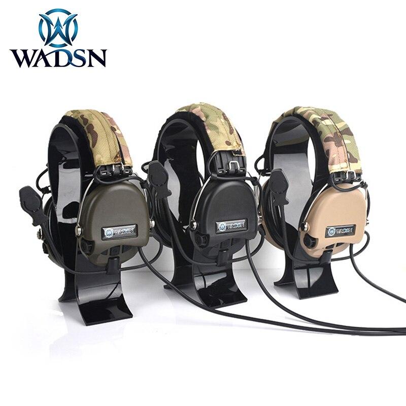 WADSN тактические наушники Peltor версия связи стрельба гарнитура с камуфляжная повязка на голову без снижения уровня шума-0