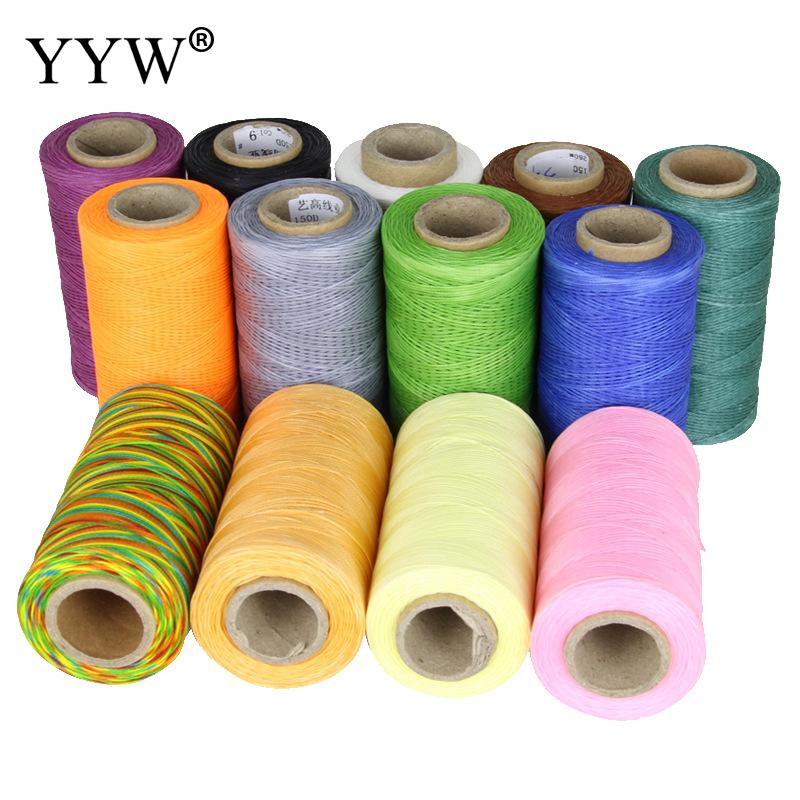 50m/Lot 0.8mm Waxed Polyester Cord Needlework Beads Spool String Kumihimo Diy Bracelet Jewelry Findings Rope Component 22 Colors