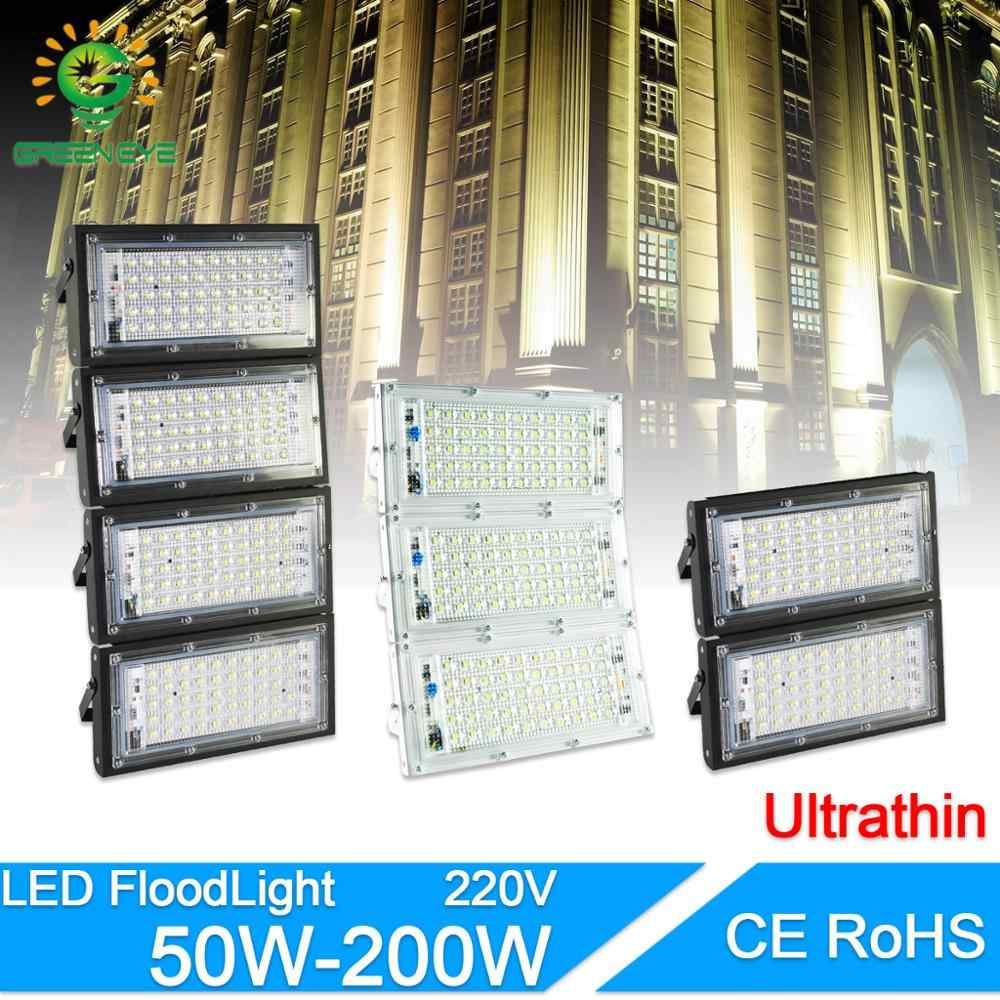 LED Flood Light 50W 100W 200W led Floodlight AC 220V 240V LED street Lamp waterproof IP65 outdoor Lighting led cob spotlight
