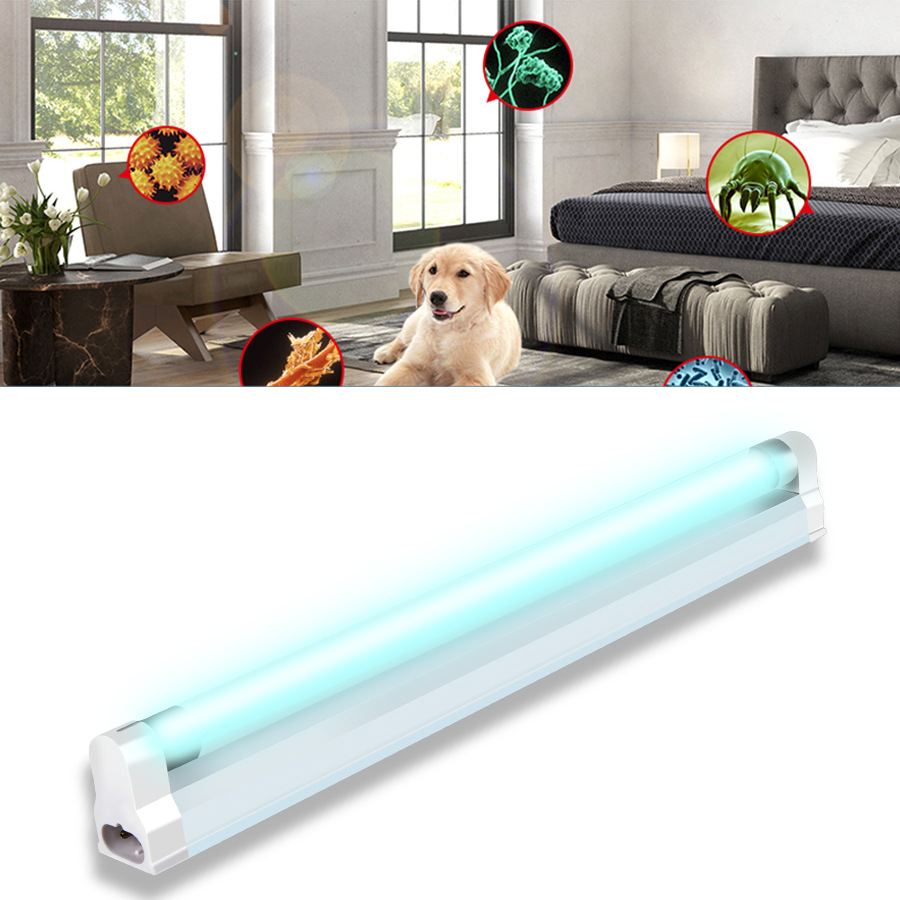 8W 6W Germicidal Light T5 Tube UVC Sterilizer Kill Dust Mite Eliminator UV Quartz Lamp For Bedroom /Hospital 220V  110V