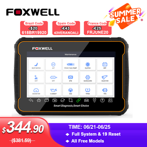 Image 1 - Foxwell GT60 OBD2 Professional Car Diagnostic Tool Full System AT ABS SRS DPF EPB 19 Reset Service ODB2 OBD2 Automotive Scanner