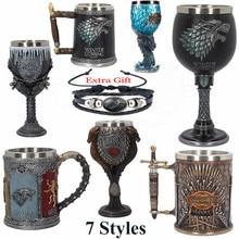 Игра престолов Железный Трон Танкард 620 мл нержавеющая сталь смолы чашки сигил Танкард череп кружка пиво посуда чашка