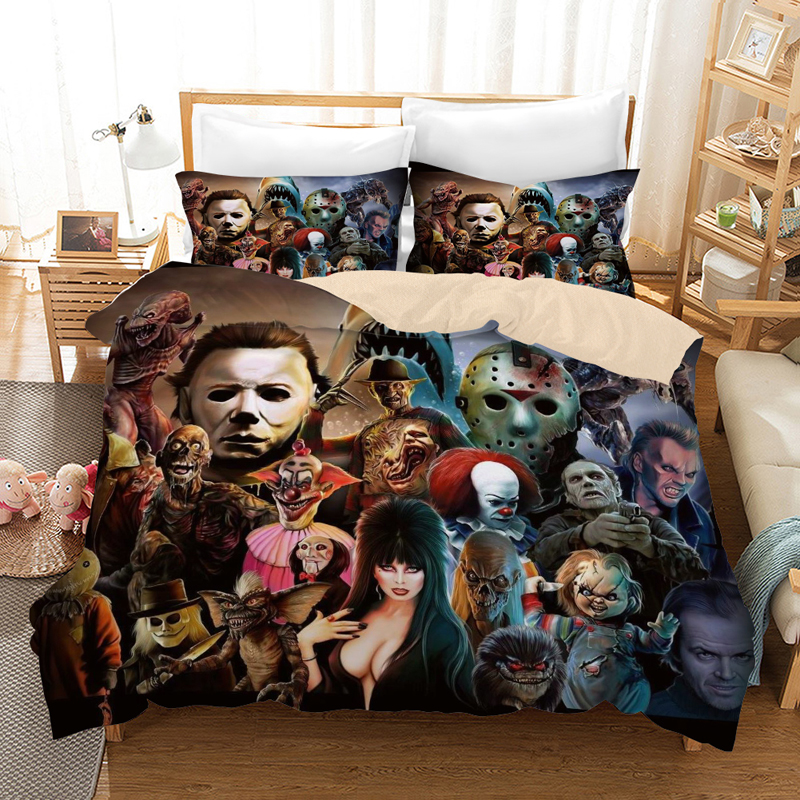 American Horror Movie 3D Bedding Set Duvet Covers Pillowcases Movie Child's Play Comforter Bedding Sets Bedclothes Bed Linen