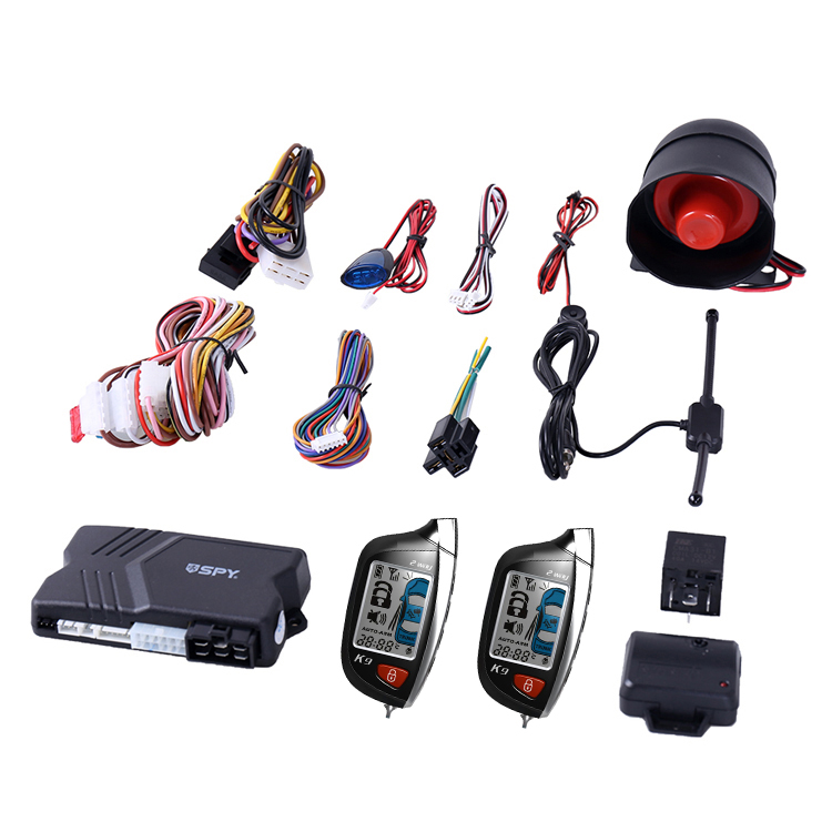 SPY security LCD remote two way car alarm with remote starter