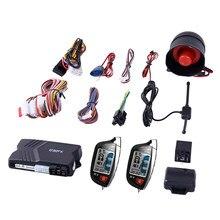 Espião de segurança lcd remoto, alarme de carro de duas vias com iniciante remoto