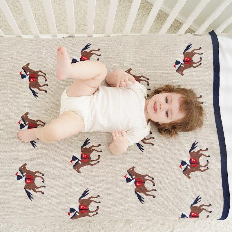 BOBOZONE Horse Fun Run Blanket For Kids Boys Girls Baby 90*110cm