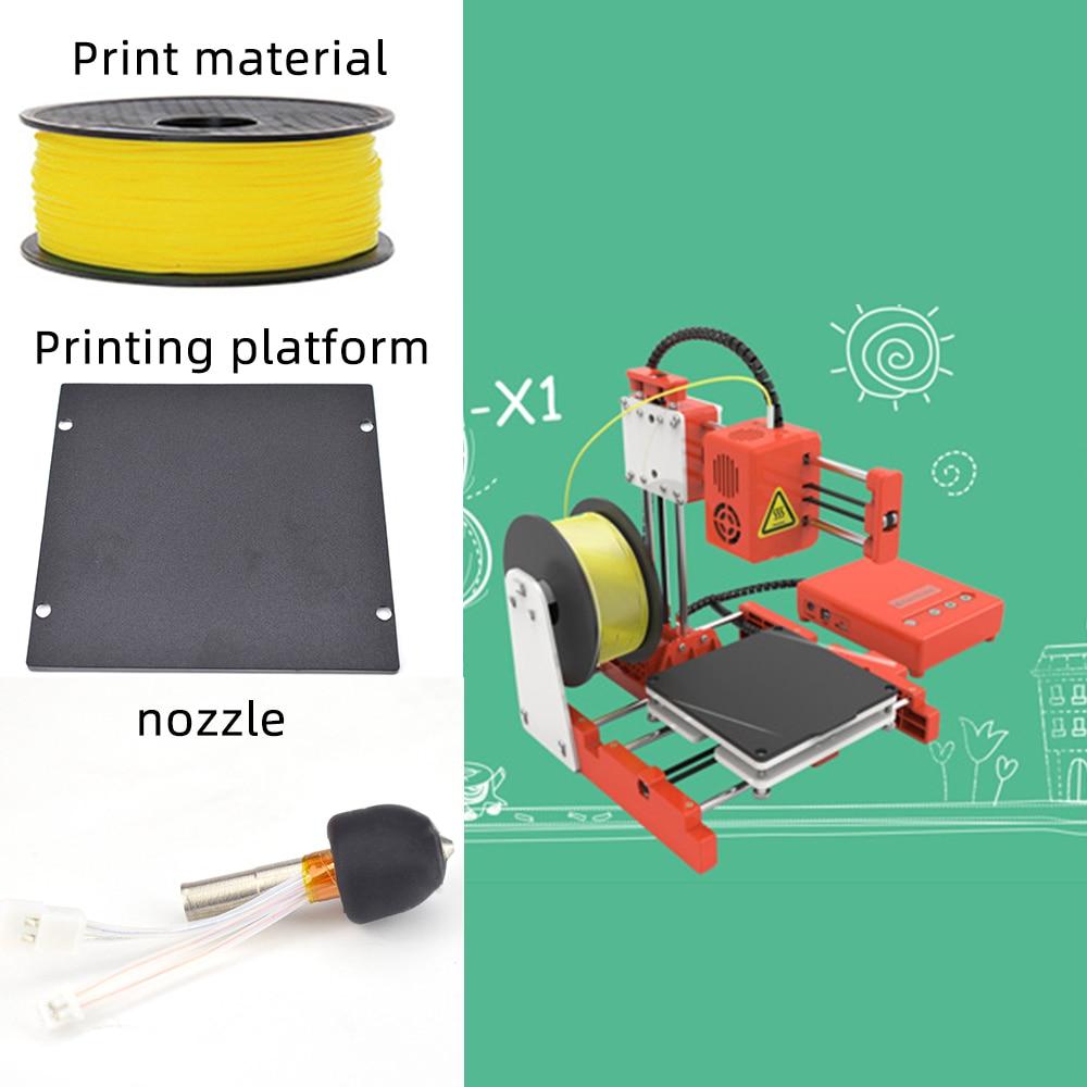 Mini Portable  Kids 3D DIY Printer for Household Education 4