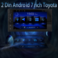 2 din 7 inch android Universal car Multimedia Player stereo radio player for Toyota VIOS CROWN CAMRY COROLLA PREVIA